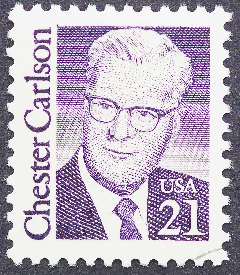 Chester Carlson invented photocopying