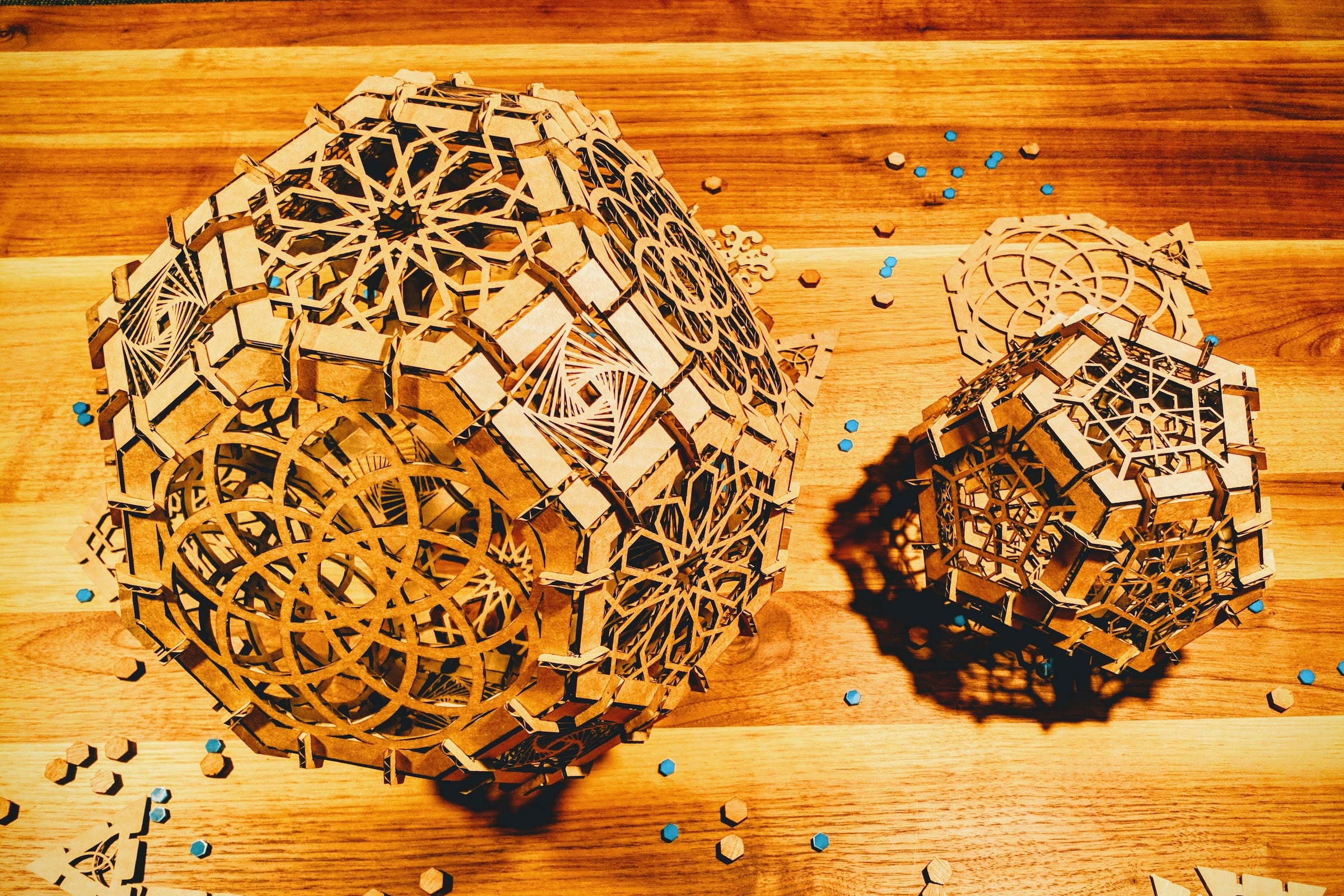 Creating Archimedean solids during the laser cutting week
