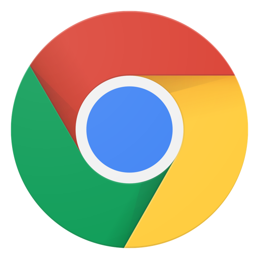 Google Chrome's logo.