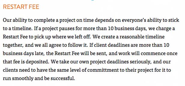 restart fee