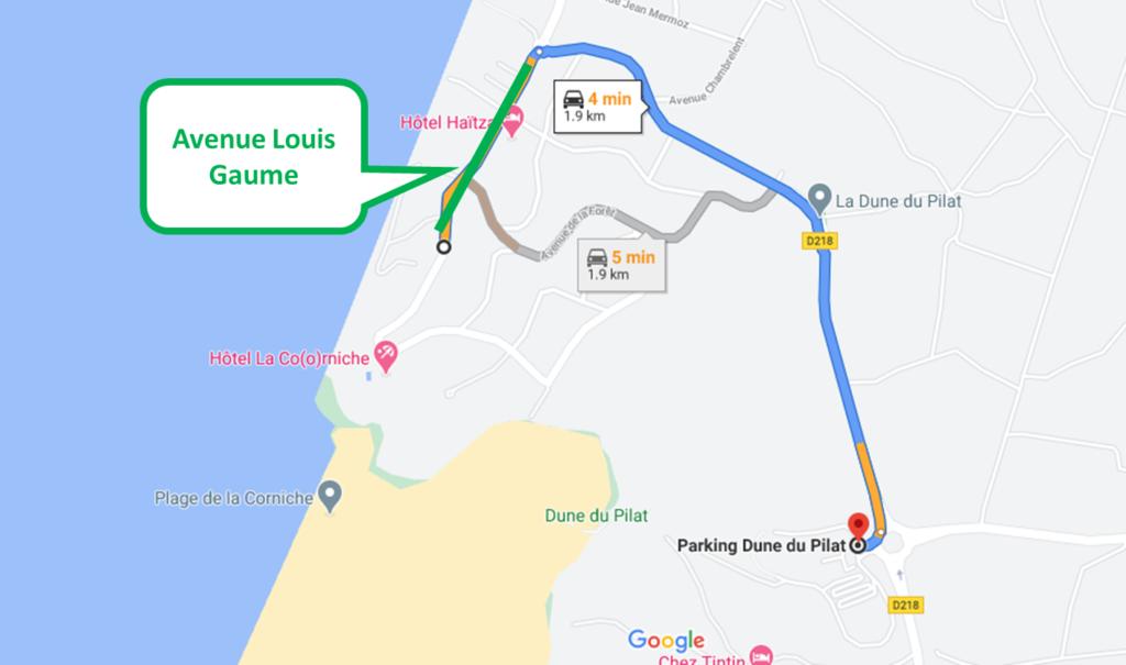 Itinéraire avenue Louis Gaume