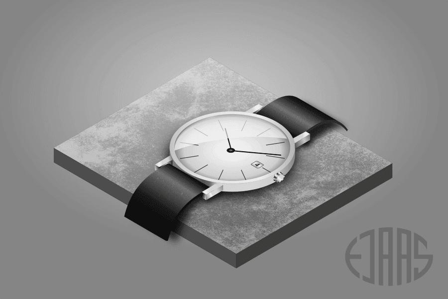 isometrisk illustration af klassisk armbåndsur