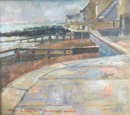 painting of Sandgate beach looking west