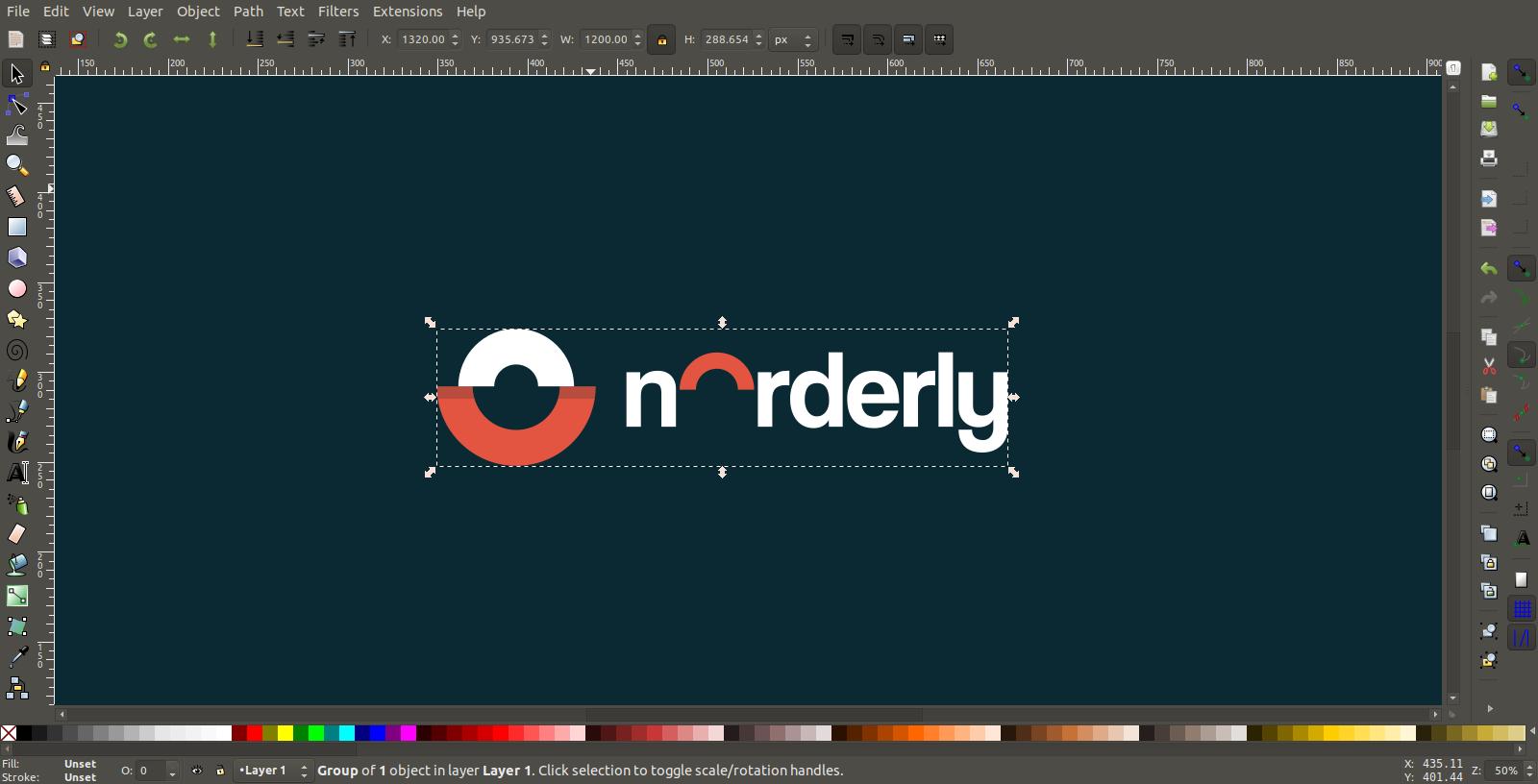 Inkscape logo resizing