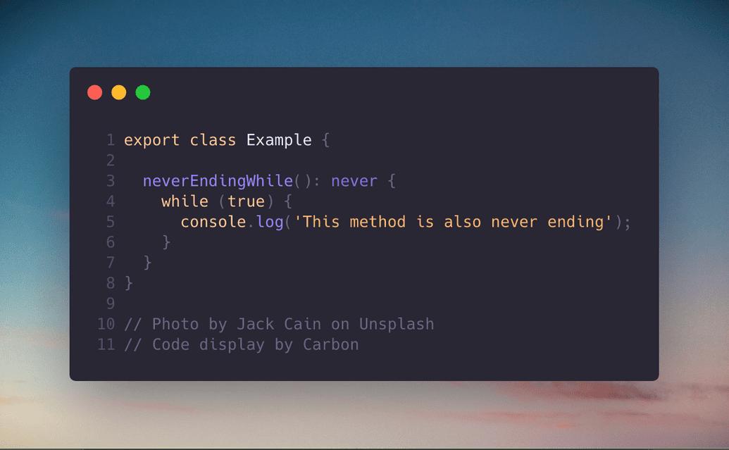 typescript never type 2