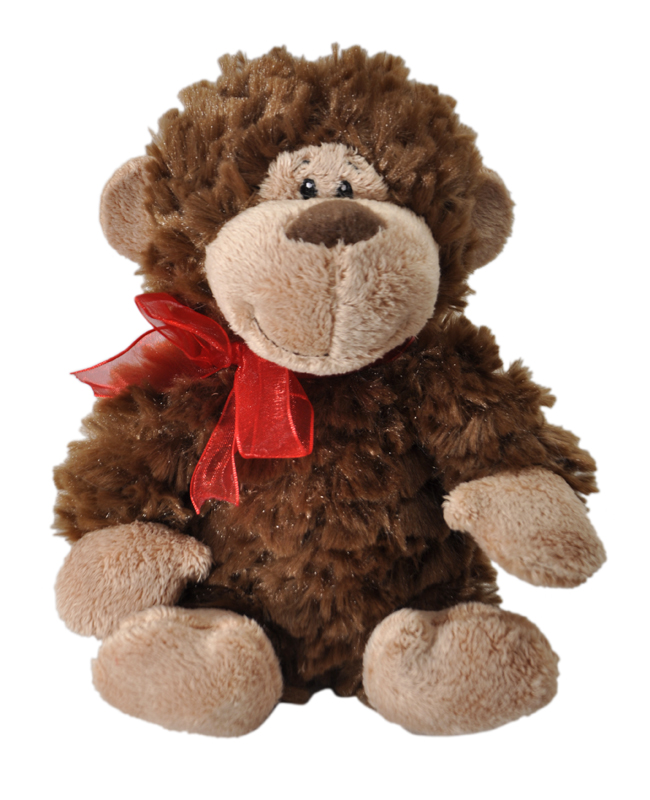 "The Petting Zoo: 7"" Chocolate Scented Valentine Monkey with Kiss"