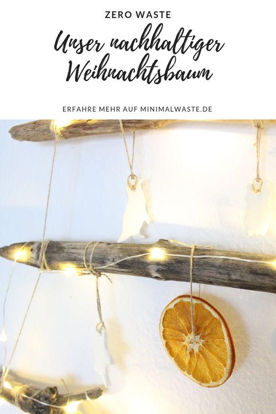 Pinterest Cover zu 'Unser nachhaltiger Weihnachtsbaum'