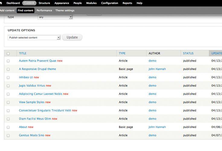 Drupal Content List
