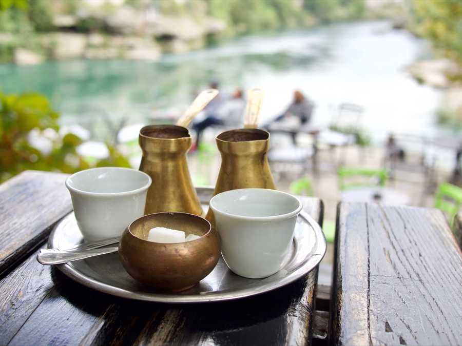 Coffee by the river