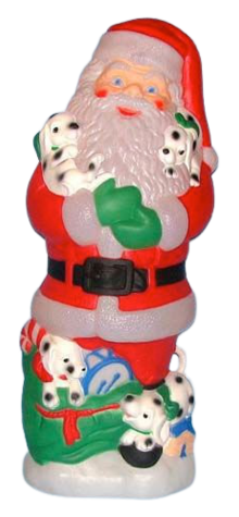 Santa With Dalmatians photo