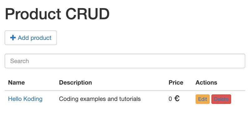 CRUD with VueJS
