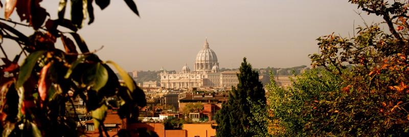 Vista del Vaticano desde Vila Borghese
