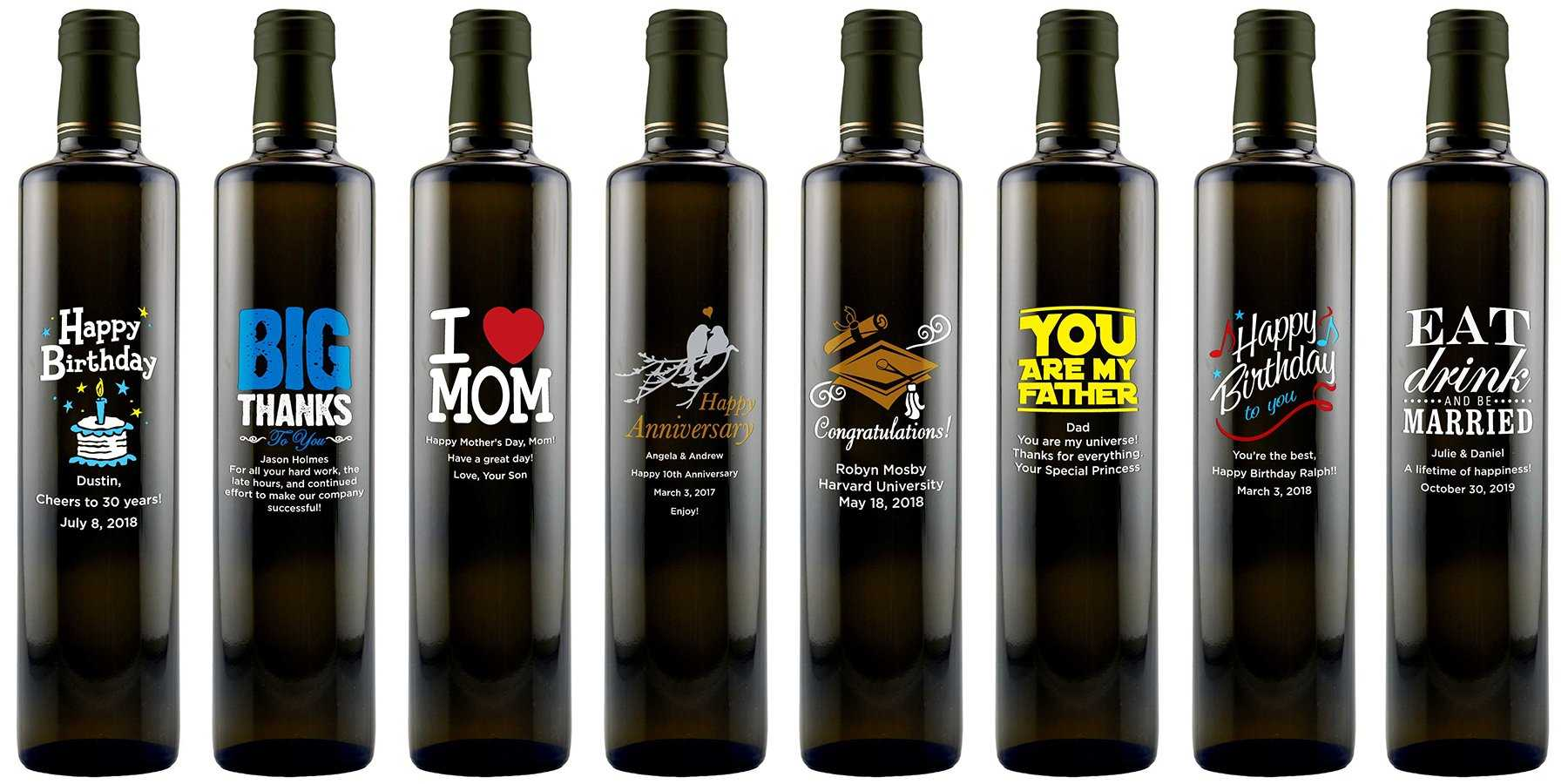 Personalized gourmet olive oil gifts by Etching Expressions