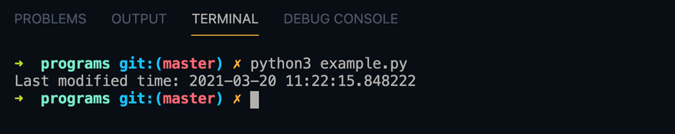 python last modified example