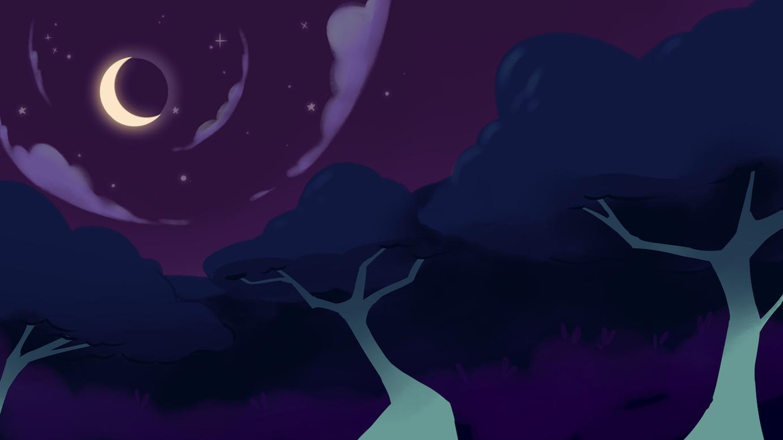 moonlit background