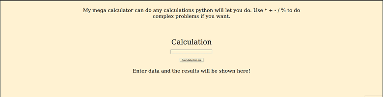 Joe's Supreme calculator webpage