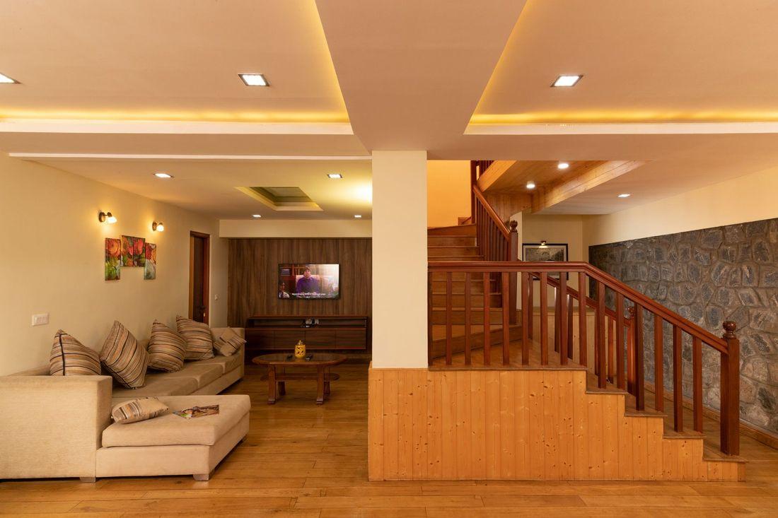 Staircase and AV Room