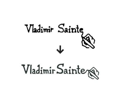 vladimir sainte logo process