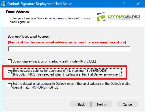 Admin Install - Per User