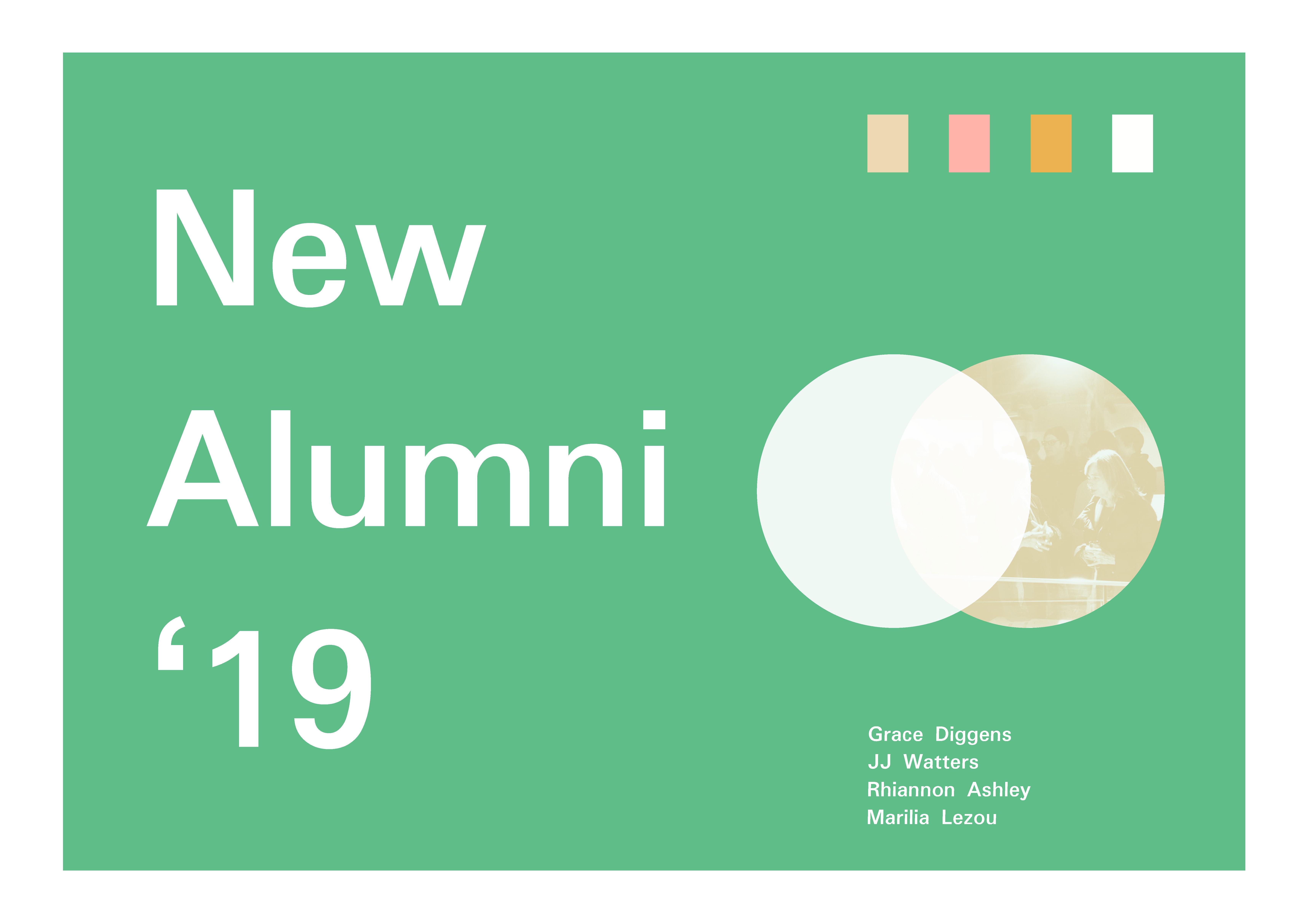Poster design for New Alumni '19