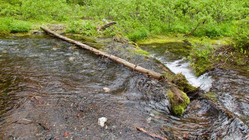 A sketchy stream crossing