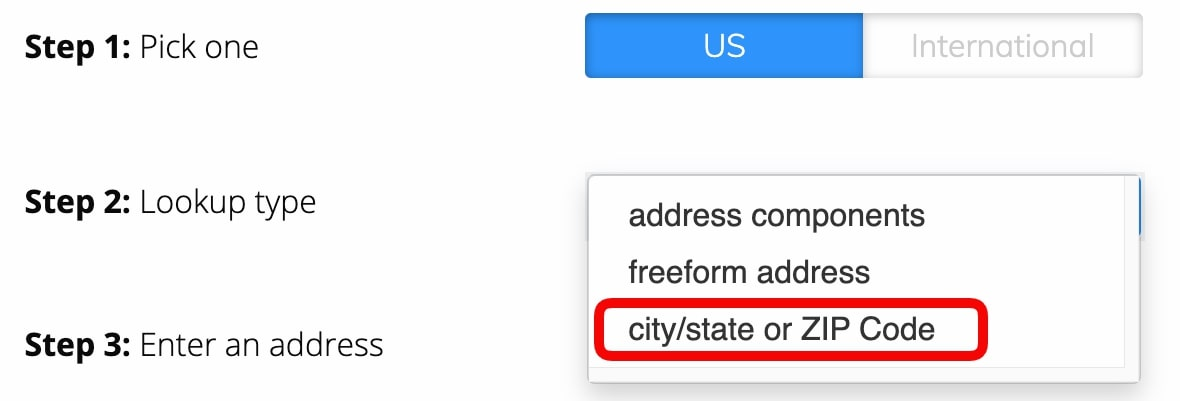 County FIPS Codes Lookup Tutorial - Select city/state or ZIP Code