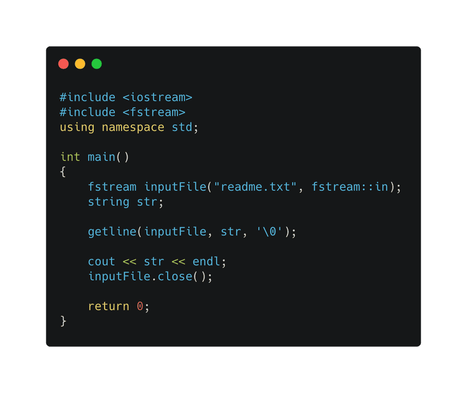 C++ read file using getline