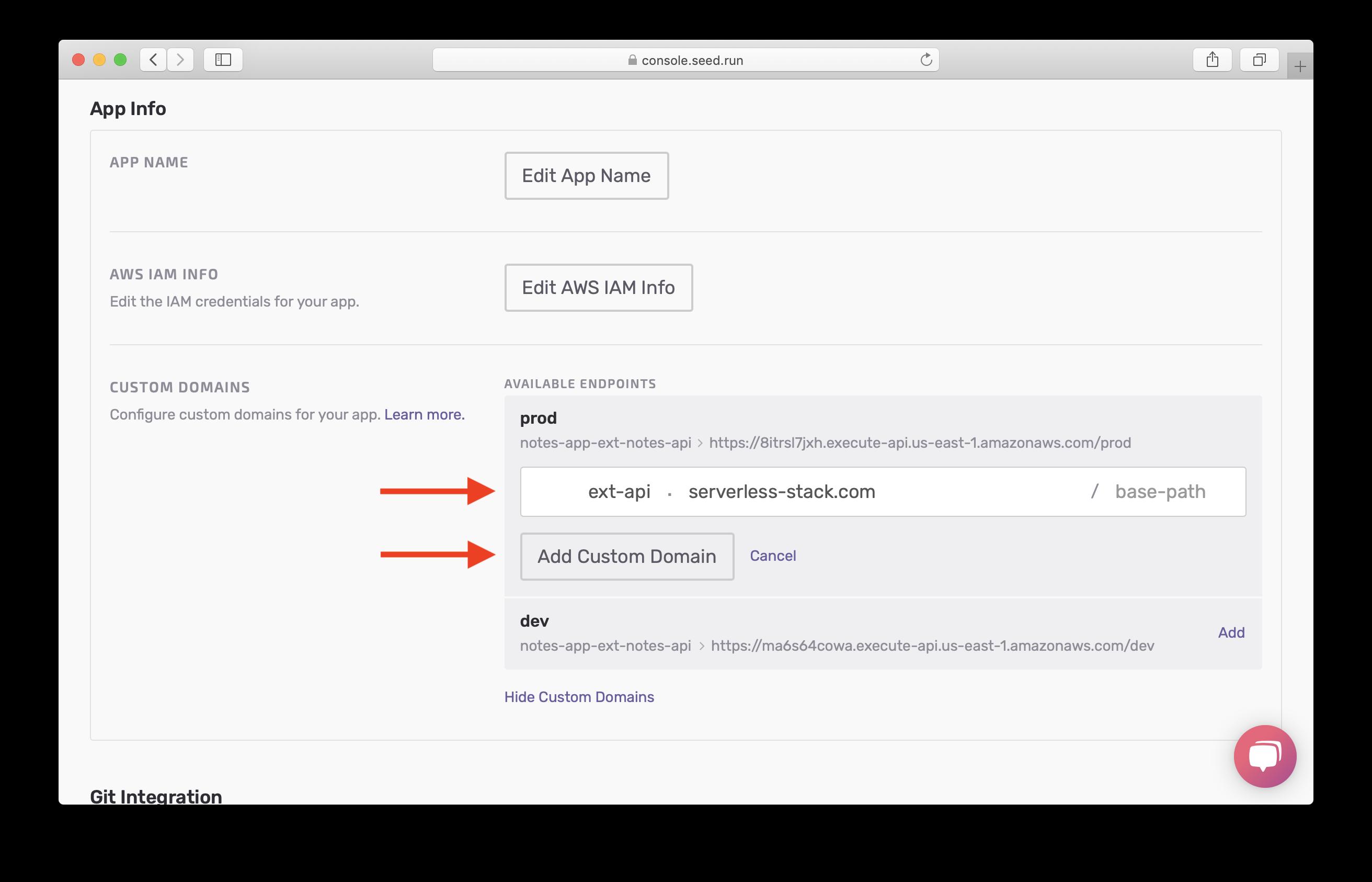 Select base domain and subdomain