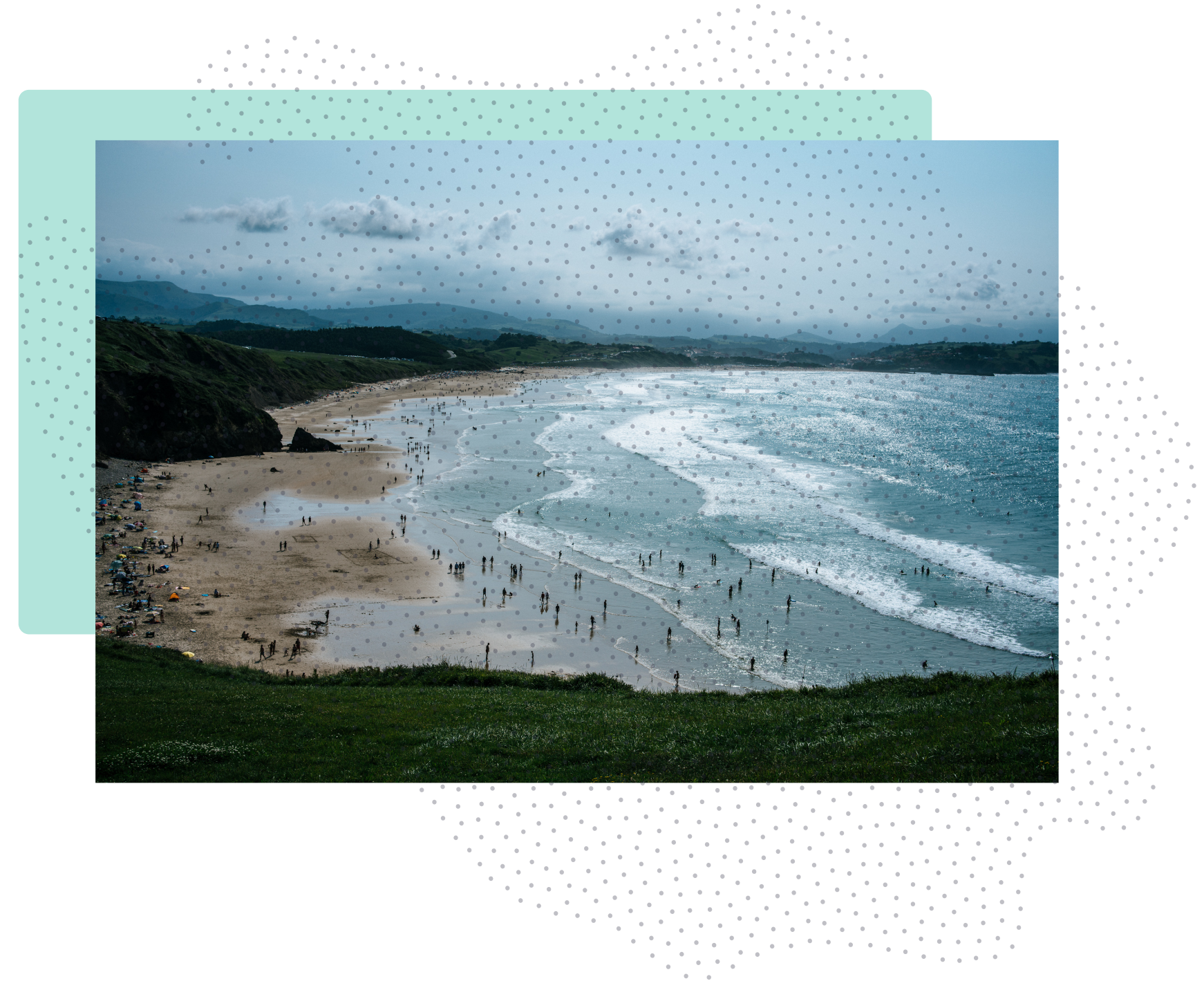 graphic of a beach