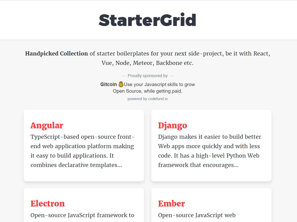 StarterGrid - Preview