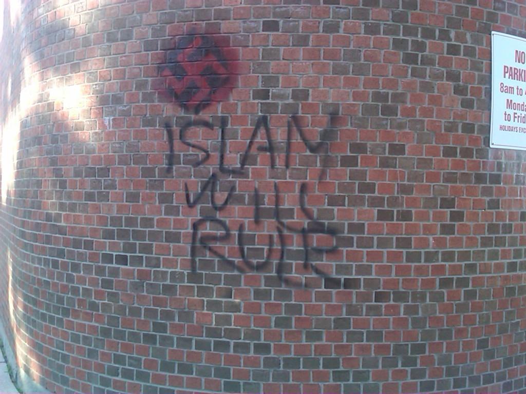 Muslim vandalism in Toronto, Canada