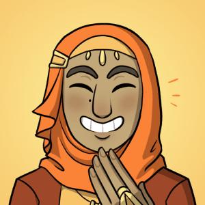 Yusra smiles.