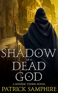 Cover for Shadow of a Dead God, by Patrick Samphire..