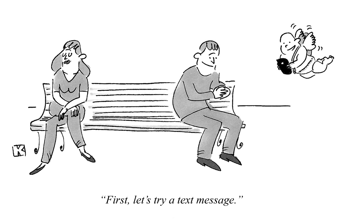 First, let's try a text message.