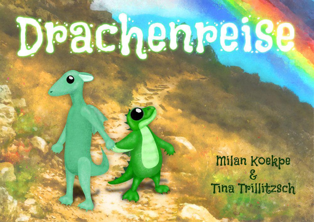 Coverbild des Spiels mit zwei Drachenkindern in einer Landschaft