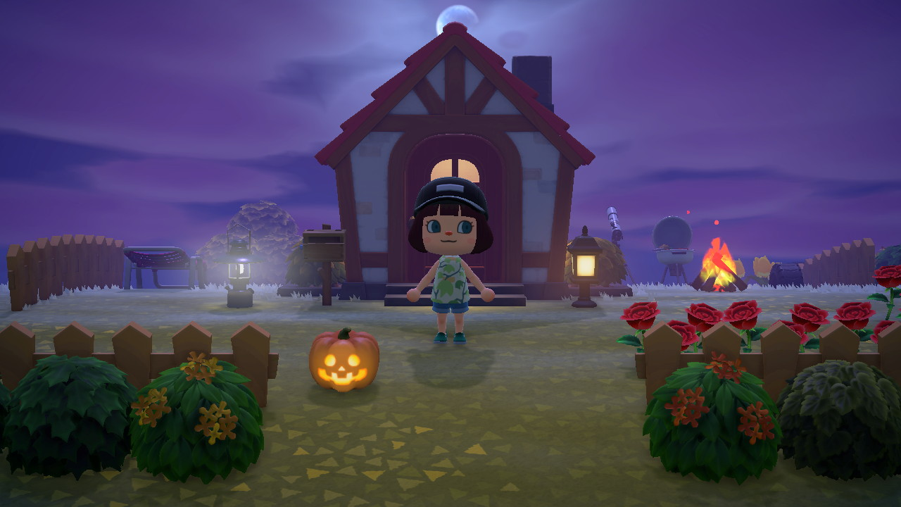 Standing outside my cute house.