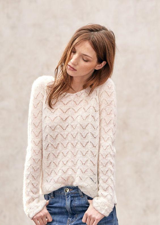 Pull laine rose femme