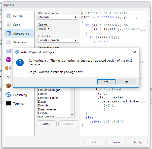 RStudio IDE Custom Theme Support | RStudio Blog