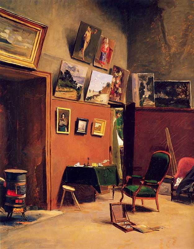'Studio in the Rue de Furstenberg', by Frédéric Bazille, c. 1865, Fogg Art Museum, Cambridge, Massachusetts
