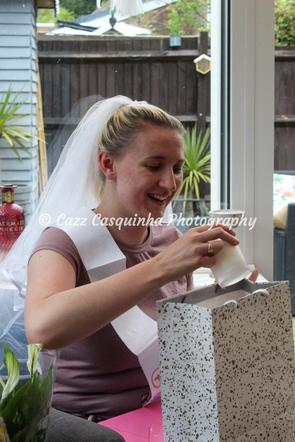 Bride to Be Opening Her Presents