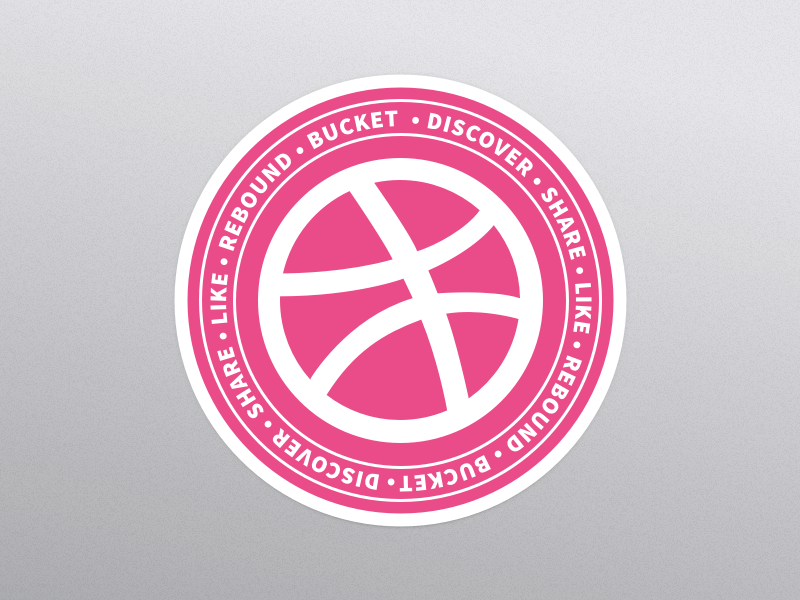 Dribbble sticker