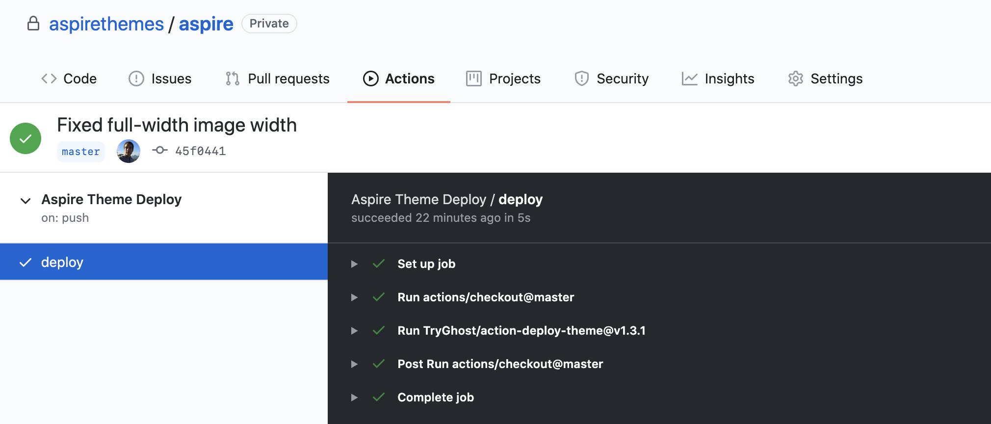 Aspire Documentation GitHub Actions