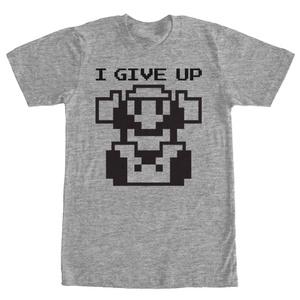 Mario Give Up - T Shirt