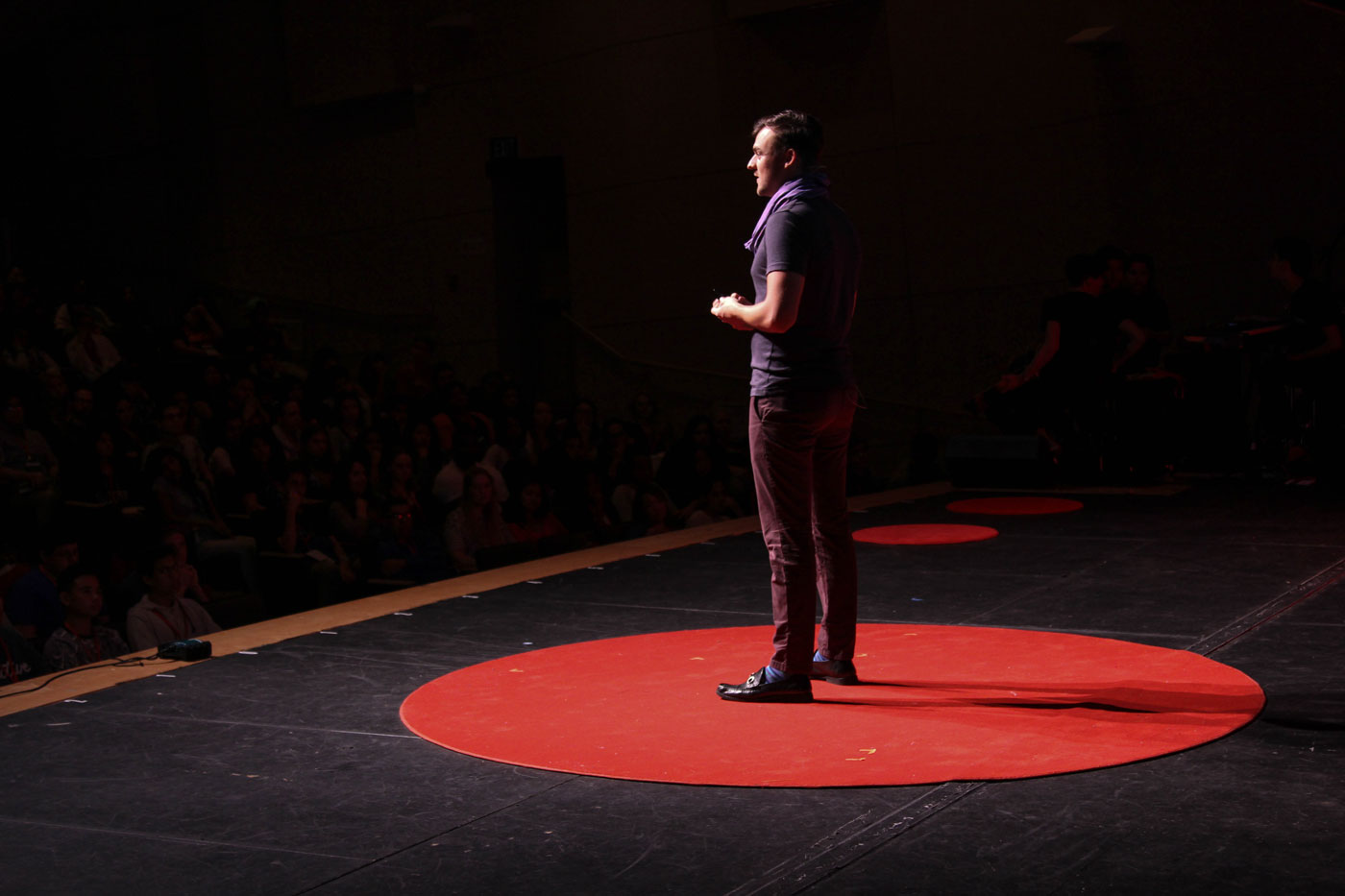 Sam Killermann giving a talk at TEDxYOUTH San Diego in 2015