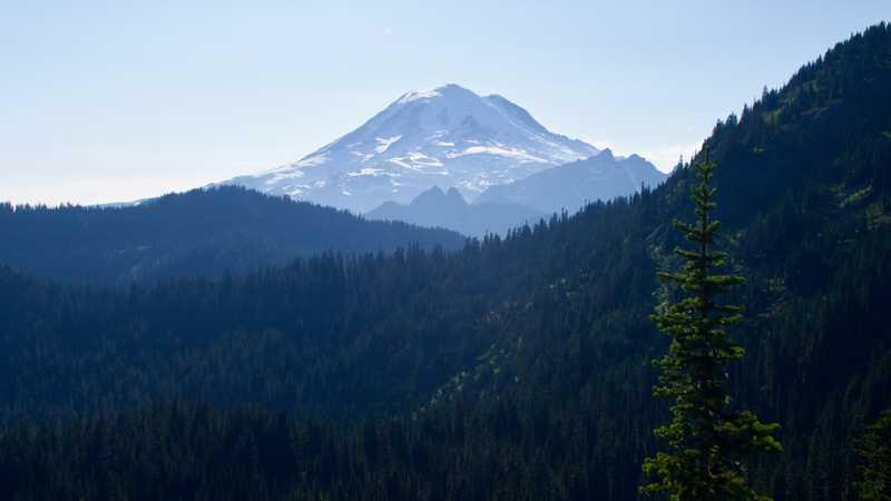 A closer view of Mt. Rainier