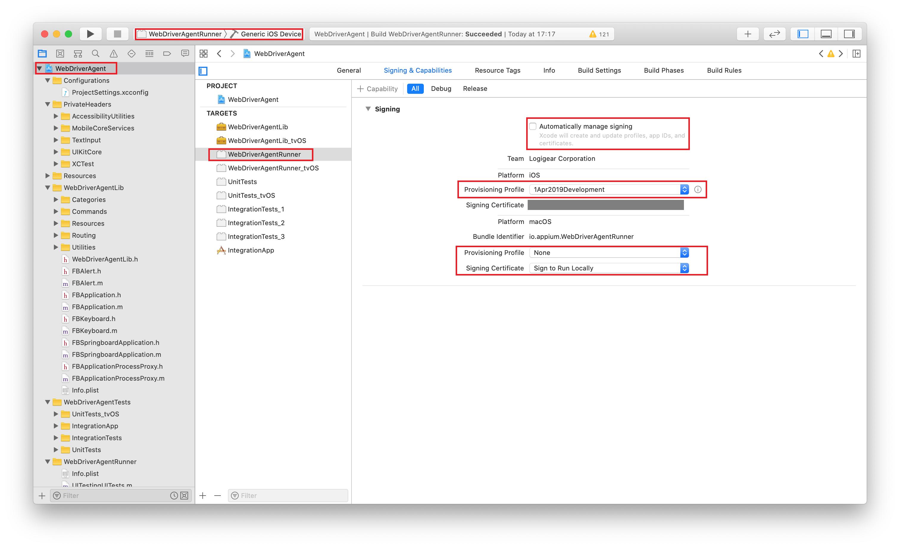 build-webdriveragent