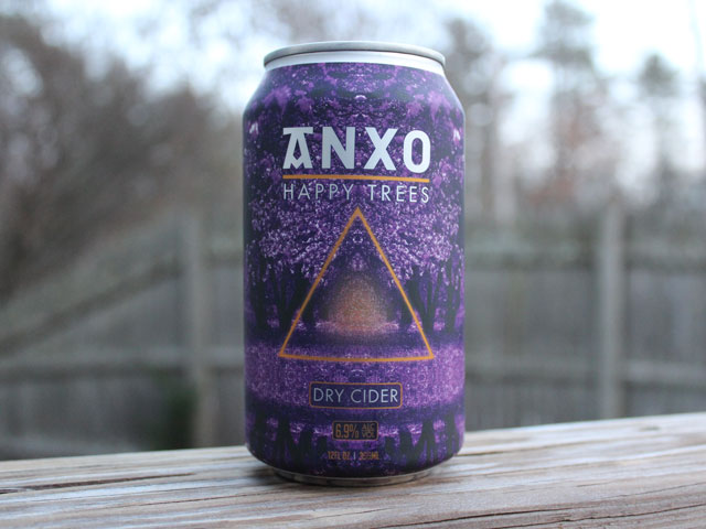 Happy Trees, a Hard Cider brewed by Anxo Cidery
