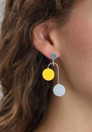 Pilgrim Ultimate Grey & Illuminating Yellow Earring