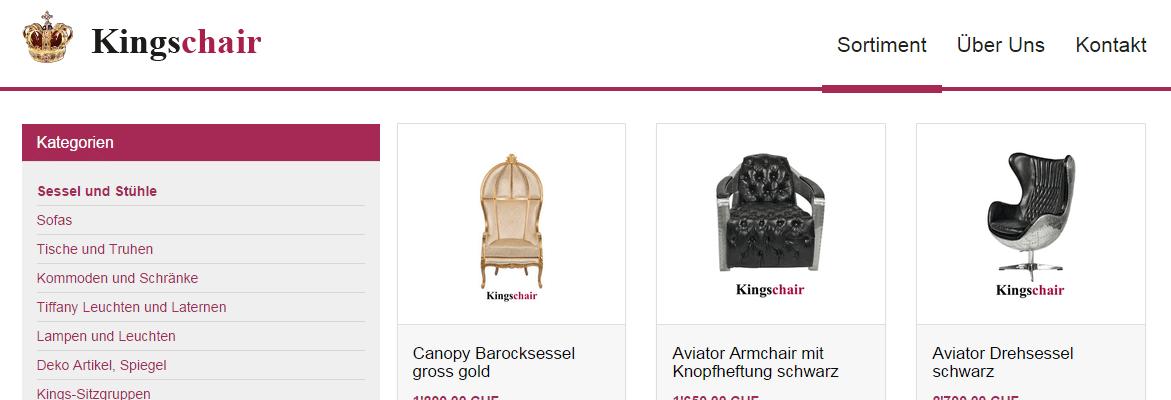 Barockmöbel und Vintage Accessoires