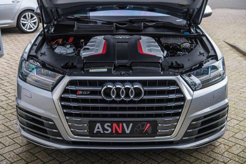 Audi SQ7 4.0 TDI Quattro Pro Line + , 435 PK, Valcona/Leder, Pano/Dak, 2017, Bose, 22'', Elekt. Trekhaak, 79DKM!! afbeelding 21